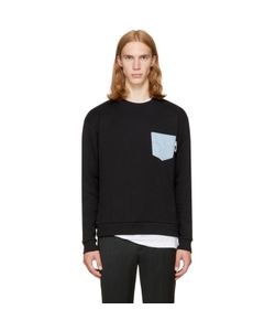 Versus | Denim Pocket Safety Pin Sweatshirt