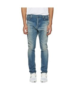Balmain   Distressed Low-Rise Jeans