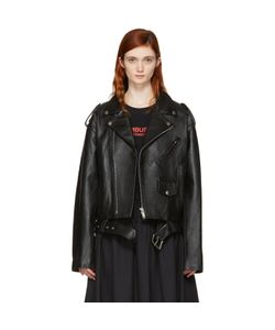 Ambush | Leather Cropped Biker Jacket