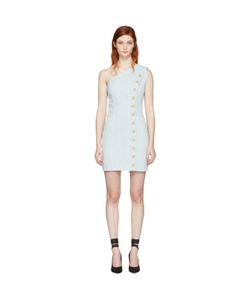 Balmain | Denim Single-Shoulder Dress