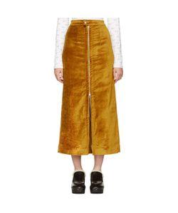 Eckhaus Latta | Velvet Zip Front Skirt