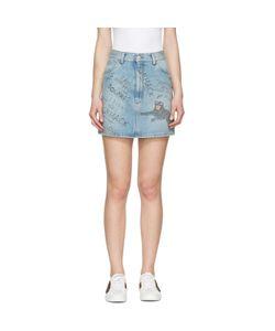 Gucci | Denim Scribble Miniskirt
