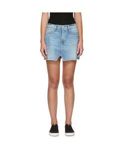 Frame Denim   Denim Le Mini Split Front Skirt