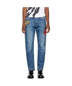 Alexander McQueen | Embroidered Selvedge Jeans
