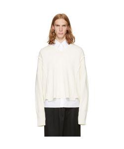 Christian Dada   Oversized Detached V-Neck Sweater