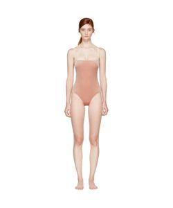 Fleur Du Mal | Velvet Straight Neck Bodysuit