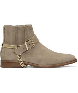Balmain | Suede Eperon Boots