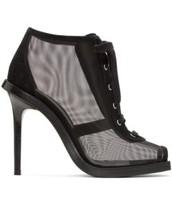 Versus | Mesh And Suede Lace-Up Boots