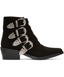 Toga Pulla | Suede Western Buckle Boots