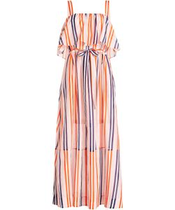 Diane von Furstenberg | Striped Cotton Dress With Silk Gr. S