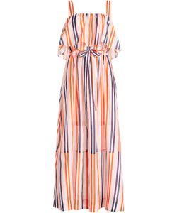 Diane von Furstenberg | Striped Cotton Dress With Silk Gr. S