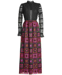 Anna Sui | Embroidered Dress With Lace And Crochet Gr. Us 2