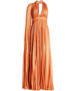 Elie Saab | Asymmetric Pleated Lamé Dress Gr. Fr 38