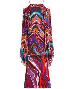 Roberto Cavalli   Printed Silk Dress Gr. It 38
