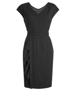 Boutique Moschino | Virgin Wool Dress With Pinstripes Gr. It 44
