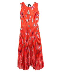 Markus Lupfer | Printed Crepe Dress Gr. M