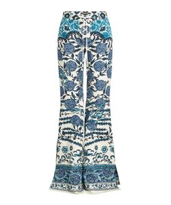 Roberto Cavalli   Printed Flared Pants With Cotton Gr. It 40
