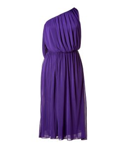 Halston | Purple One Shoulder Dress Gr. 34