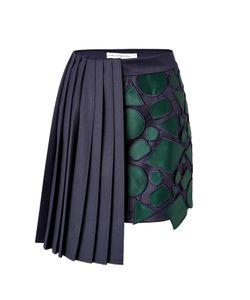 Mary Katrantzou   Wool Jumbar Mini-Skirt Gr. Uk 8
