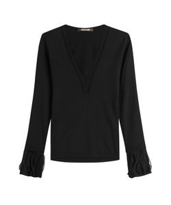 Roberto Cavalli   Wool Pullover With Tulle Gr. It 42