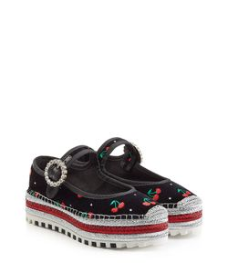 Marc by Marc Jacobs | Embroidered Velvet Mary-Janes Gr. 40