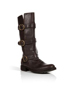 Fiorentini & Baker | Leather Buckled Boots Gr. 38