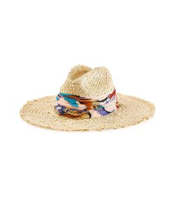 Emilio Pucci | Straw Hat With Printed Trim Gr. 2