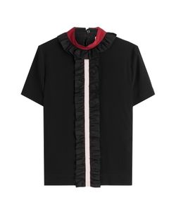 Fendi | Silk Top With Ruffled Collar Gr. It 38