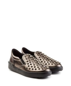 Valentino | Rockstud Leather Slip-On Sneakers Gr. Eu 40