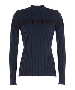Alexander Wang | Ribbed Wool Pullover With Cut-Out Detail Gr. S