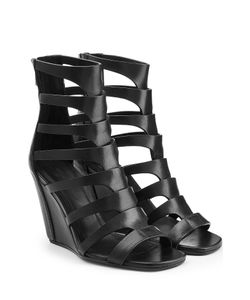 Rick Owens   Leather Wedge Sandals Gr. 36
