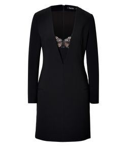 Marios Schwab | Long Sleeve Dress With Lace Inset Gr. Uk 8
