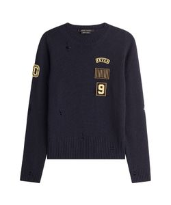 Marc Jacobs | Wool Pullover With Patches And Distressed Detail Gr. S