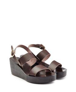 Ancient Greek Sandals | Leather Wedge Sandals Gr. 36
