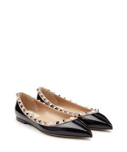 Valentino | Two-Tone Patent Leather Rockstud Ballet Flats Gr. It 36