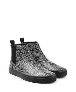 Kenzo | Printed Leather Ankle Boots Gr. Eu 40