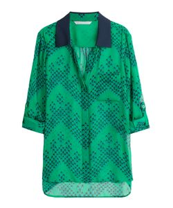 Diane von Furstenberg | Printed Silk Blouse Gr. Us 8