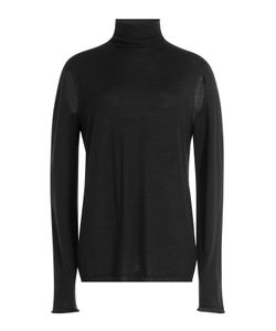 Rick Owens   Wool Turtleneck Pullover With Cut-Out Detail Gr. M