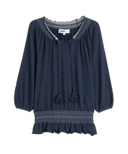 Claudia Schiffer for TSE | Cashmere Knit Peasant Top Gr. S