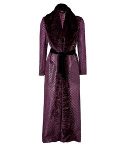 Marios Schwab | Long Coat In Burgundy Gr. 36