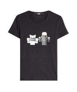 Karl Lagerfeld | Printed Cotton T-Shirt Gr. M