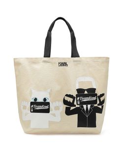 Karl Lagerfeld | Printed Canvas Tote Bag Gr. One Size