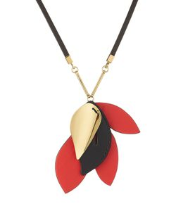 Marni | Necklace With Leather And Brass Gr. One Size
