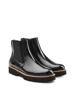 Hogan   Patent Leather Chelsea Boots Gr. It 39