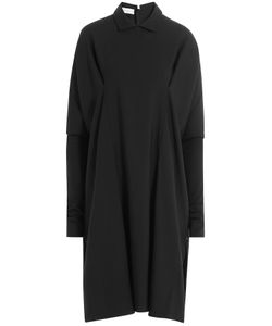 Nobi Talai | Wool Cape Dress With Collar Gr. De 36