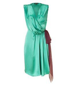 Sophie Theallet | Turqoise/Ruby Silk Satin Wrap Dress Gr. 38