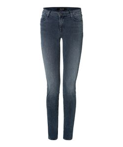 J Brand Jeans | Mid-Rise Super Skinny Jeans With Zippers Gr. 24