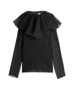 Nina Ricci | Silk Crepe Blouse With Ruffled Collar Gr. Fr 38