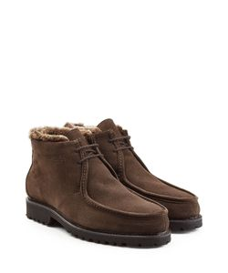 Ludwig Reiter | Suede Ankle Boots With Shearling Lining Gr. Uk 95
