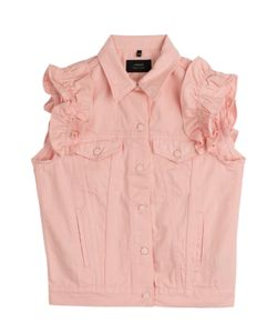 Simone Rocha X J Brand | Denim Vest With Frilled Sleeves Gr. S/M